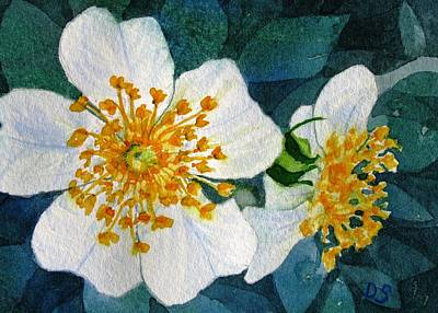 Painting - Wild Roses by Debra Spinks