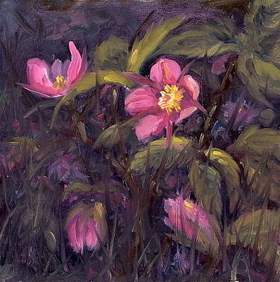 Painting - Wild Roses by Kurt Jacobson