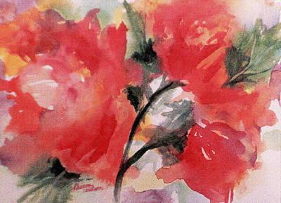 Wild Roses Original by Sharon K Wilson