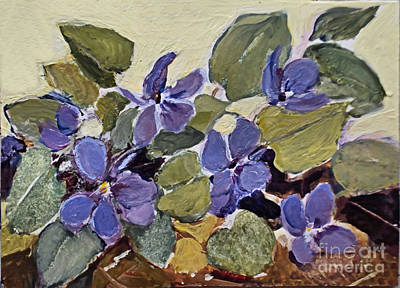 Painting - Wild Violets by Diane Ursin