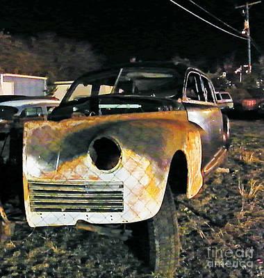 Scrap Metal Yard Photograph - Wildcar Preserve by Joe Jake Pratt