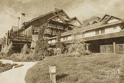Digital Art - Wilderness Lodge Resort Beach Walt Disney World Prints Vintage by Shawn O'Brien