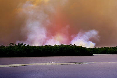 Photograph - Wildfire On Sanibel Island by Ellen Heaverlo