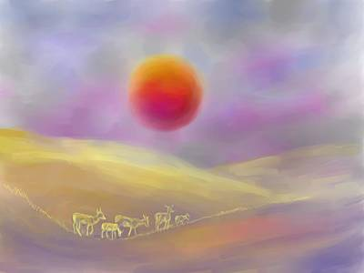 Digital Art - Wildfire Sunrise by Dawn Senior-Trask