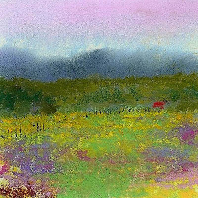 Pastel - Wildflowers by David Patterson