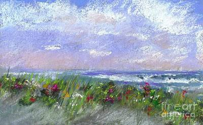 Digital Art - Wildflowers On The Beach by Denise Dempsey Kane