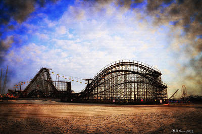 Roller Coaster Digital Art - Wildwood New Jersey by Bill Cannon