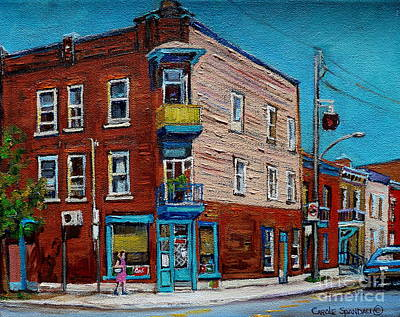 Wilenskys Painting - Wilensky's Light Lunch Plateau Montreal by Carole Spandau