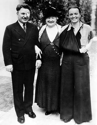 Leila Photograph - Wiley Post,  Madam Schumann-heink & by Everett