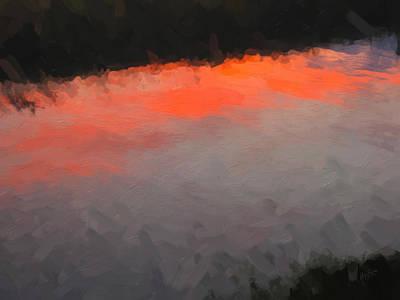 Briex Digital Art - Wilhelmina Canal In Sunset Light by Nop Briex