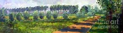 Nederland Painting - Wilhelminapolder by Wim Wege van de