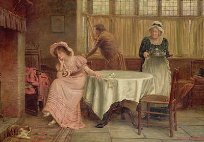 Old Lady Painting - 'will He Come?' by George Goodwin Kilburn