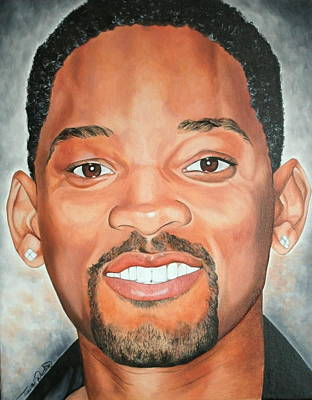 Portraits By Timothe Painting - Will Smith by Timothe Winstead