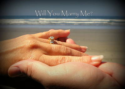 Photograph - Will You Marry Me by Cindy Wright