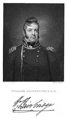 Wesley Jarvis Photograph - William Bainbridge  (1774-1833). American Naval Officer. Steel Engraving After A Painting, 1814-15, By John Wesley Jarvis by Granger