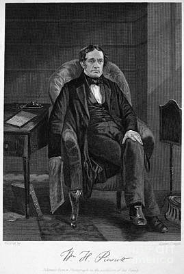 Prescott Photograph - William Hickling Prescott by Granger