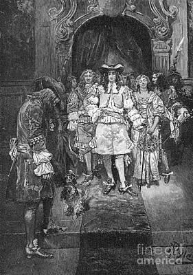 William Penn And Charles II Art Print by Granger