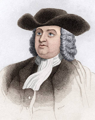 William Penn, English Coloniser Art Print by Sheila Terry