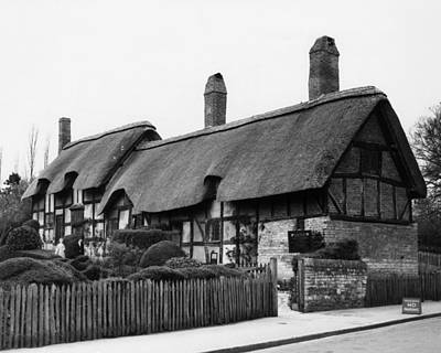 Stratford Photograph - William Shakespeare. Cottage Where by Everett