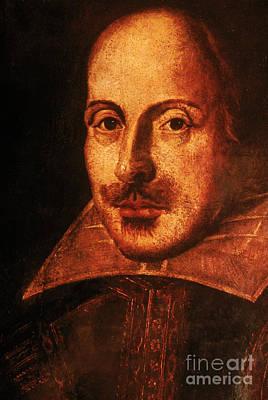 Romance Renaissance Photograph - William Shakespeare, English Poet by Photo Researchers, Inc.