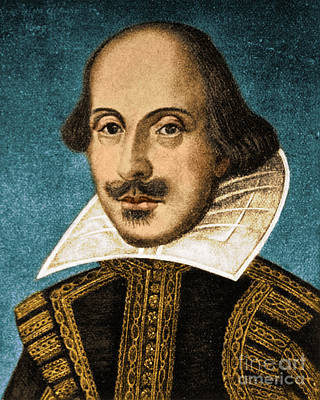 Romance Renaissance Photograph - William Shakespeare, English Poet by Science Source