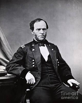 William Sherman Photograph - William Tecumseh Sherman, American by LOC/Photo Researchers