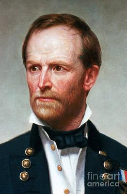 William Sherman Photograph - William Tecumseh Sherman, American by Photo Researchers