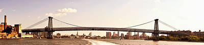 Williamsburg Bridge And The New York City Skyline Panorama Art Print by Vivienne Gucwa