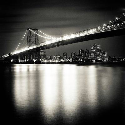 Williamsburg Bridge At Night Art Print by Adam Garelick