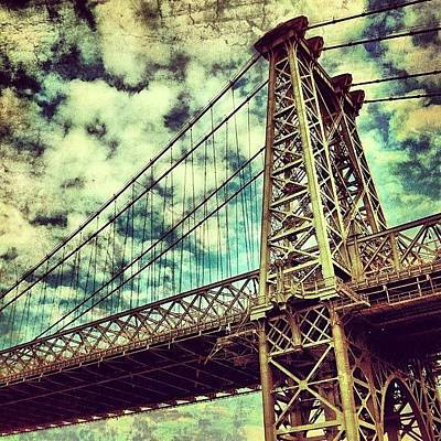 River Wall Art - Photograph - Williamsburg Bridge by Luke Kingma