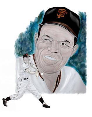 Willie Mays Art Print by Steve Ramer