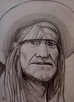 Willie Nelson Drawing - Willie Nelson by Pete Maier