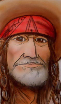 Willie Nelson Drawing - Willie by Pete Maier