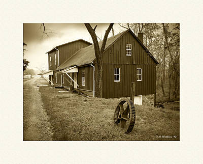 Williston Mill - Sepia Art Print by Brian Wallace