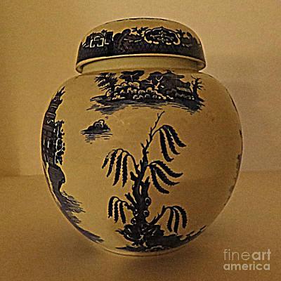 Willow Tea Jar Art Print by Patricia Januszkiewicz