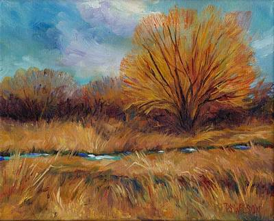 Meadow Willows Painting - Willows And Wetlands by Peggy Wilson