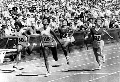 Wilma Rudolph, Winning The Womens Print by Everett