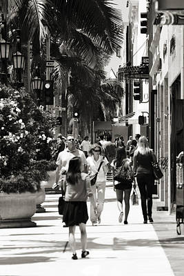 Upscale Photograph - Wilshire Walkers by Ricky Barnard