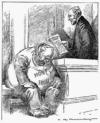 Wilson Cartoon, 1913 Art Print by Granger