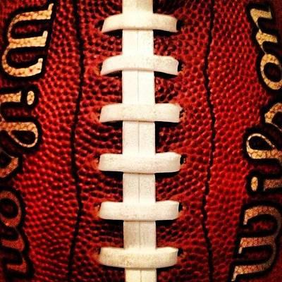 Leather Photograph - #wilson #football #pigskin #leather by Tony Sinisgalli