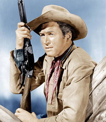 Winchester 73, James Stewart, 1950 Art Print by Everett