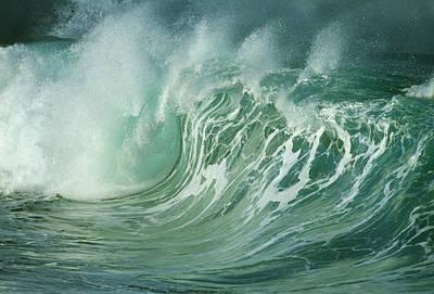 Wind-blown Wave Breaking In Hawaii Art Print