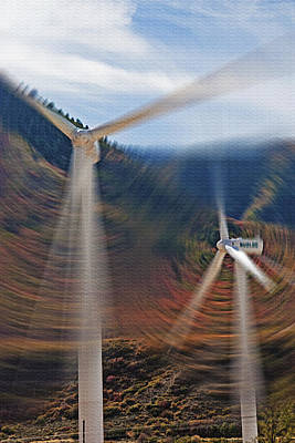 Wind Farm 1 Art Print by Steve Ohlsen