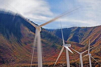 Wind Farm 2 Art Print by Steve Ohlsen