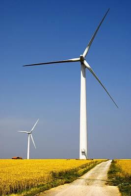 Wind Turbine, Humberside, England Art Print by John Short
