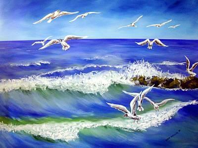 Karin Mueller Painting - Wind Unter Den Fluegeln by Karin Mueller