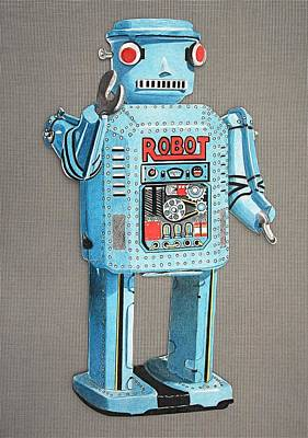 Wind-up Robot 2 Art Print
