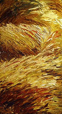 Windblown Grass Art Print by Raette Meredith