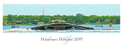 Digital Art - Windermere Wakefest by Pete Rems