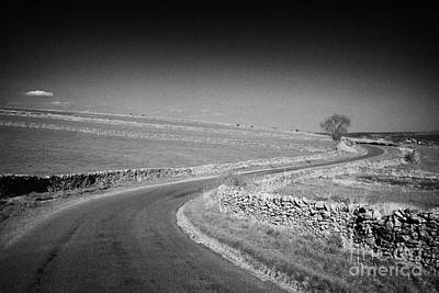 Tranquil Scene Escapism Photograph - Winding B Road Through The Derbyshire Dales Peak District National Park In Derbyshire by Joe Fox